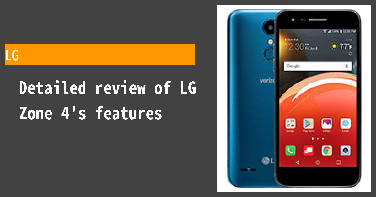 Detailed review of LG Zone 4's features