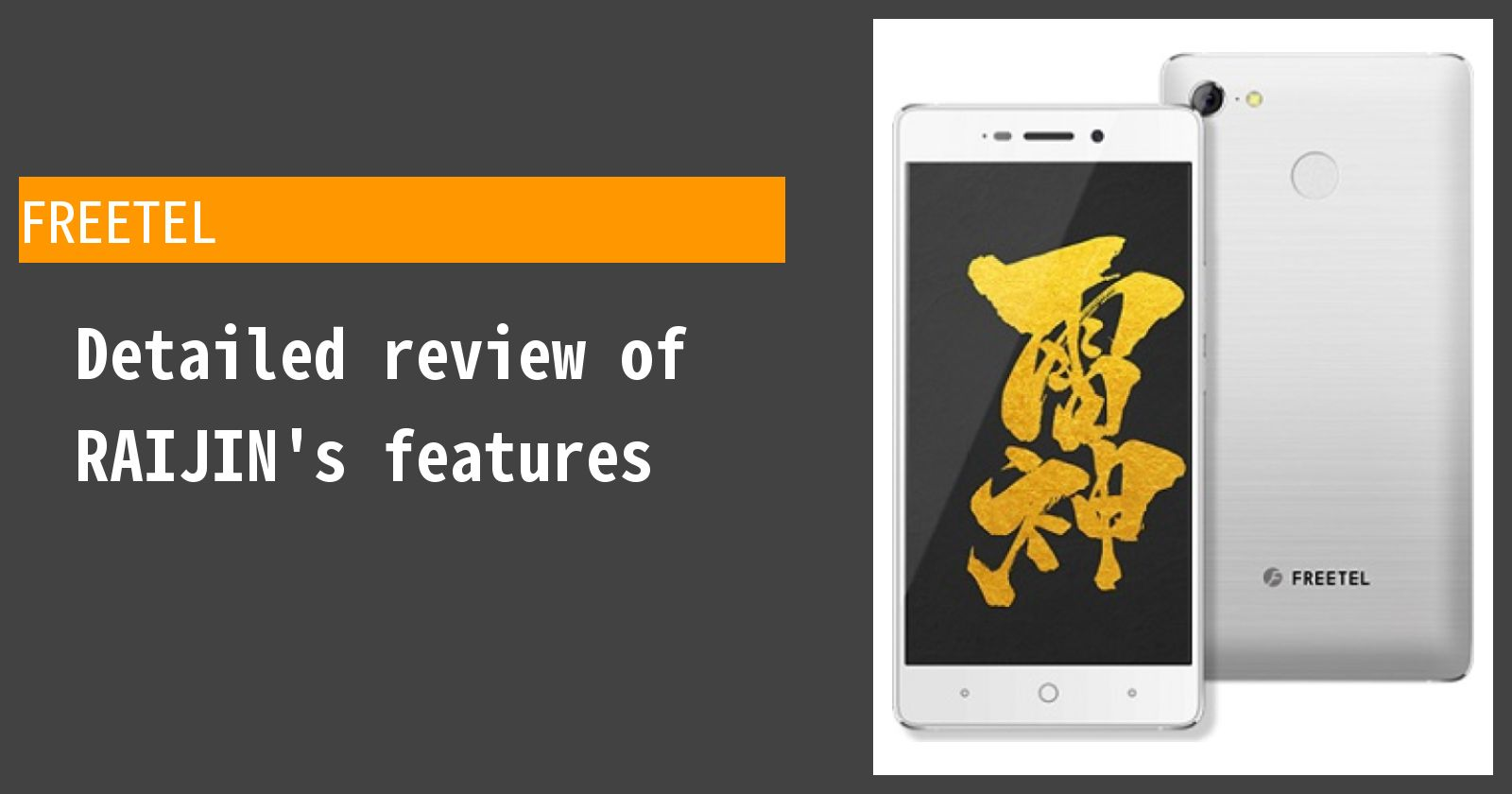 Detailed review of FREETEL RAIJIN's features