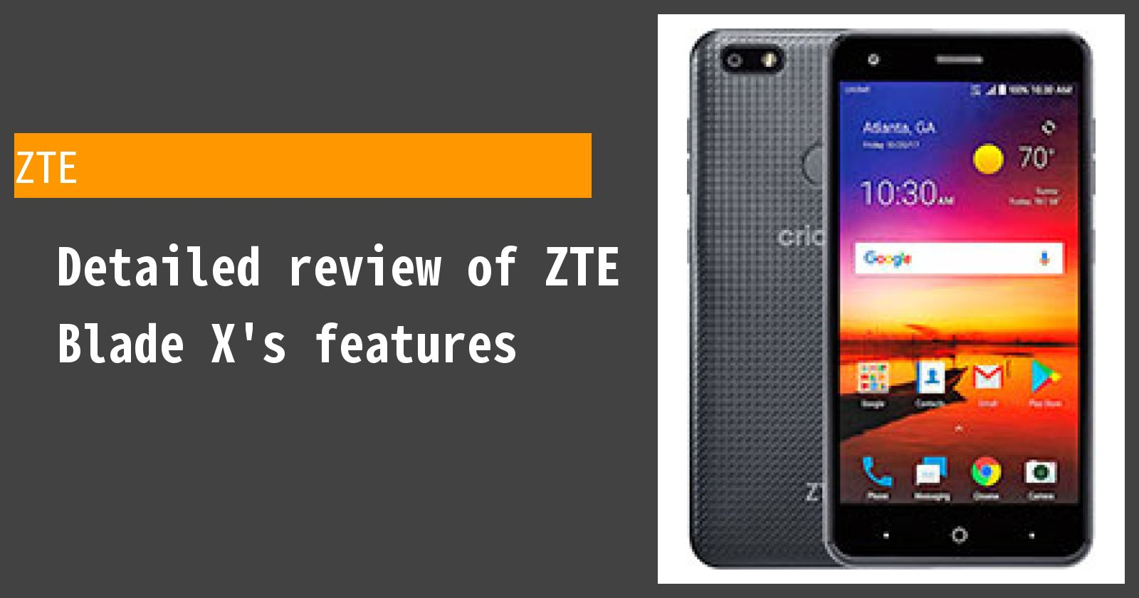 Detailed review of ZTE Blade X's features