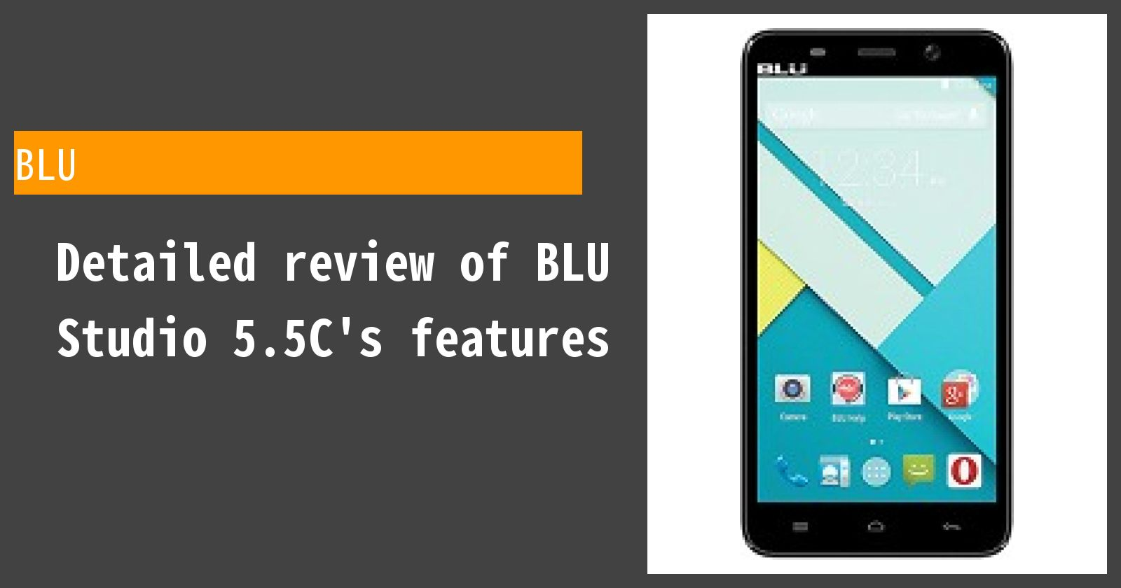 Detailed review of BLU Studio 5.5C's features