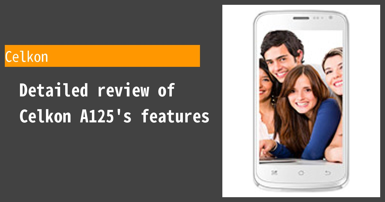 Detailed review of Celkon A125's features