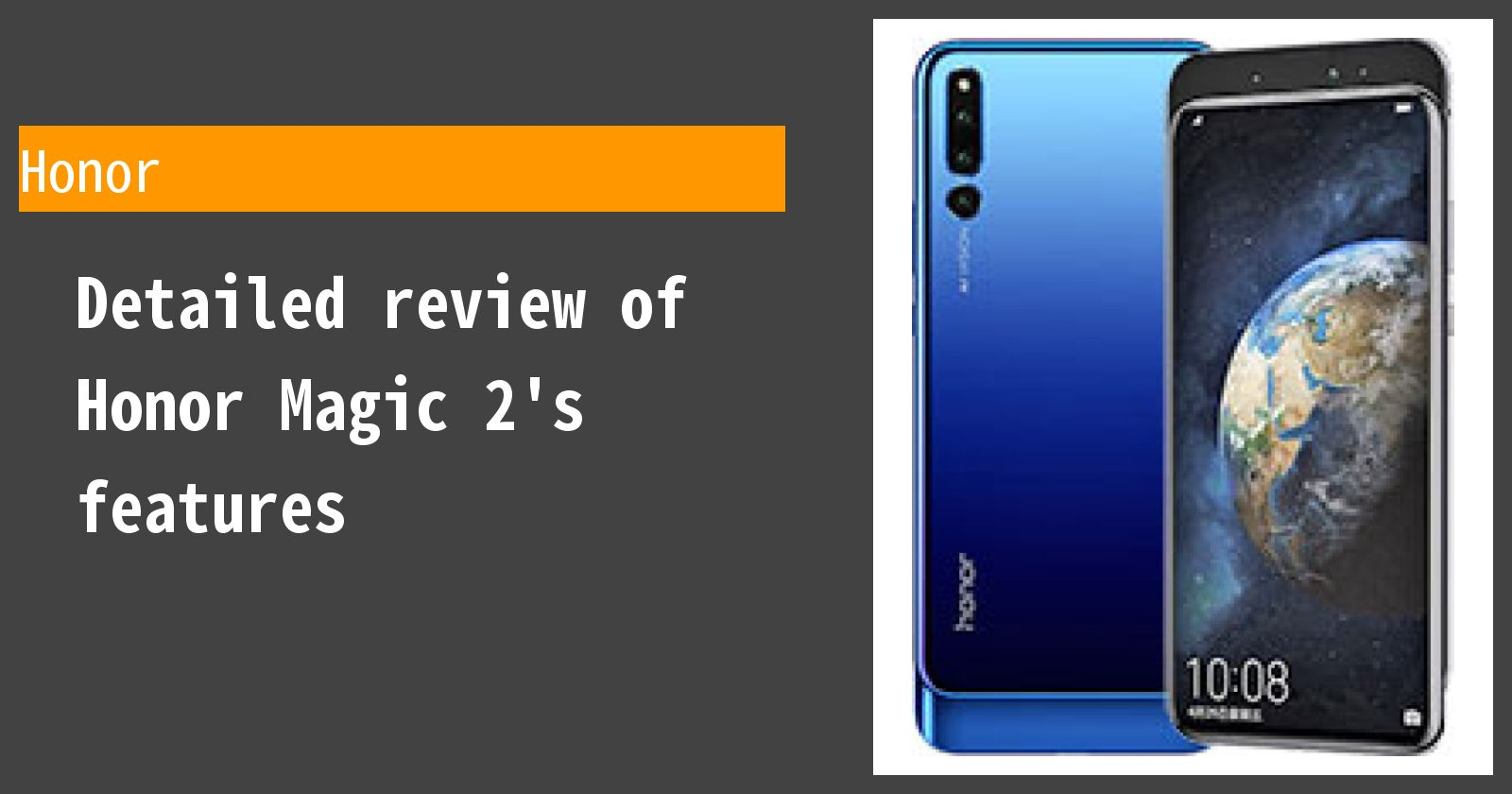 Detailed review of Honor Magic 2's features
