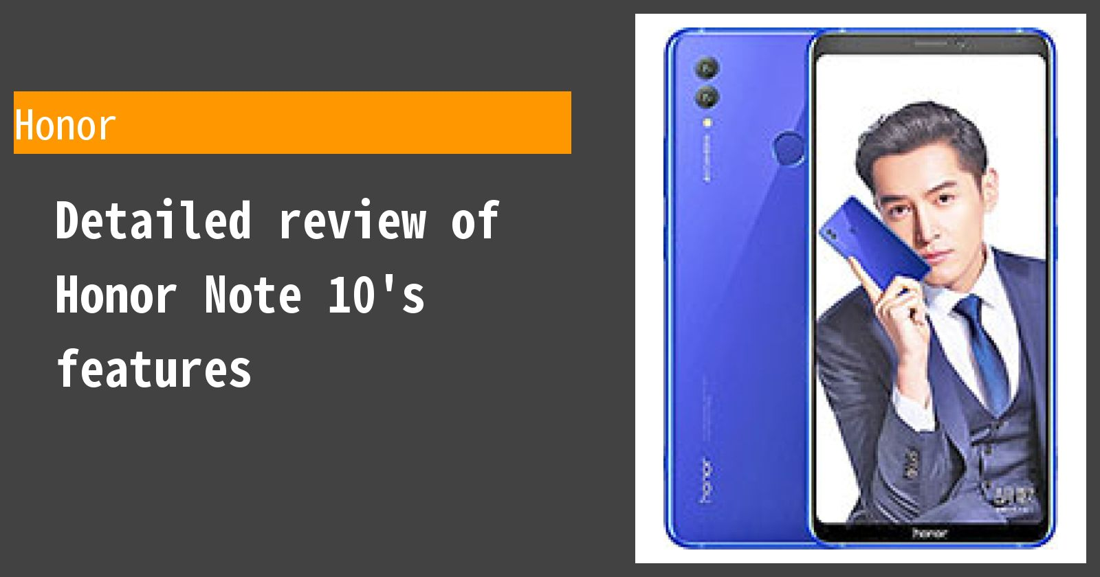 Detailed review of Honor Note 10's features