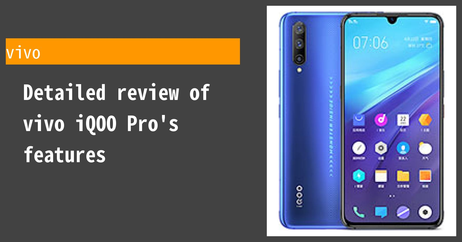 Detailed review of vivo iQOO Pro's features