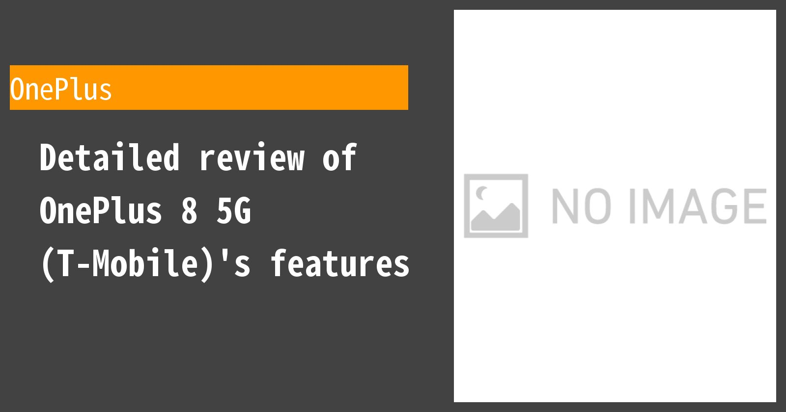 Detailed review of OnePlus 8 5G (T-Mobile)'s features