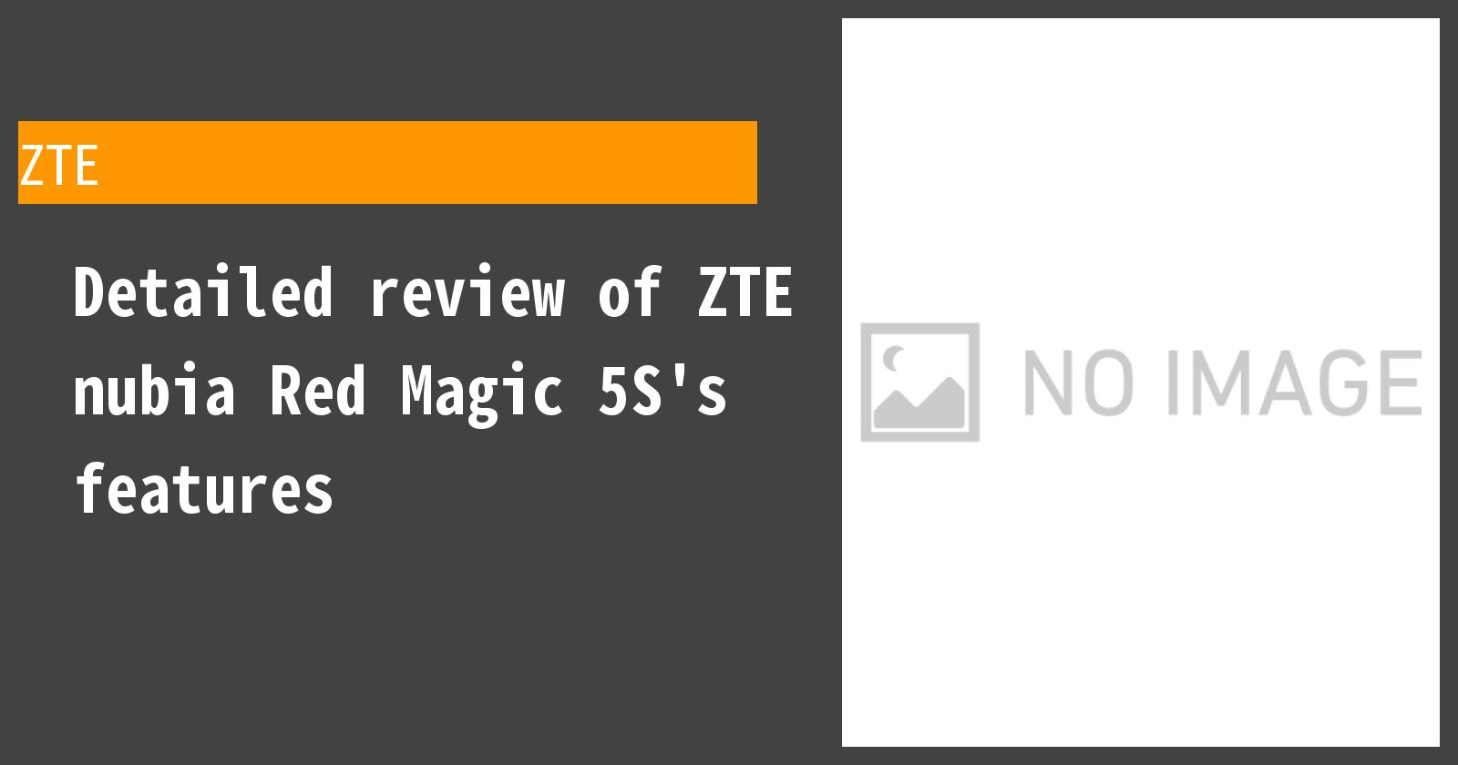 Detailed review of ZTE nubia Red Magic 5S's features