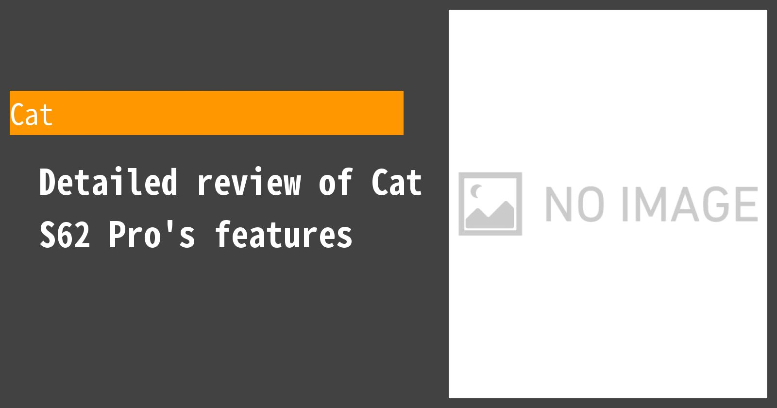 Detailed review of Cat S62 Pro's features