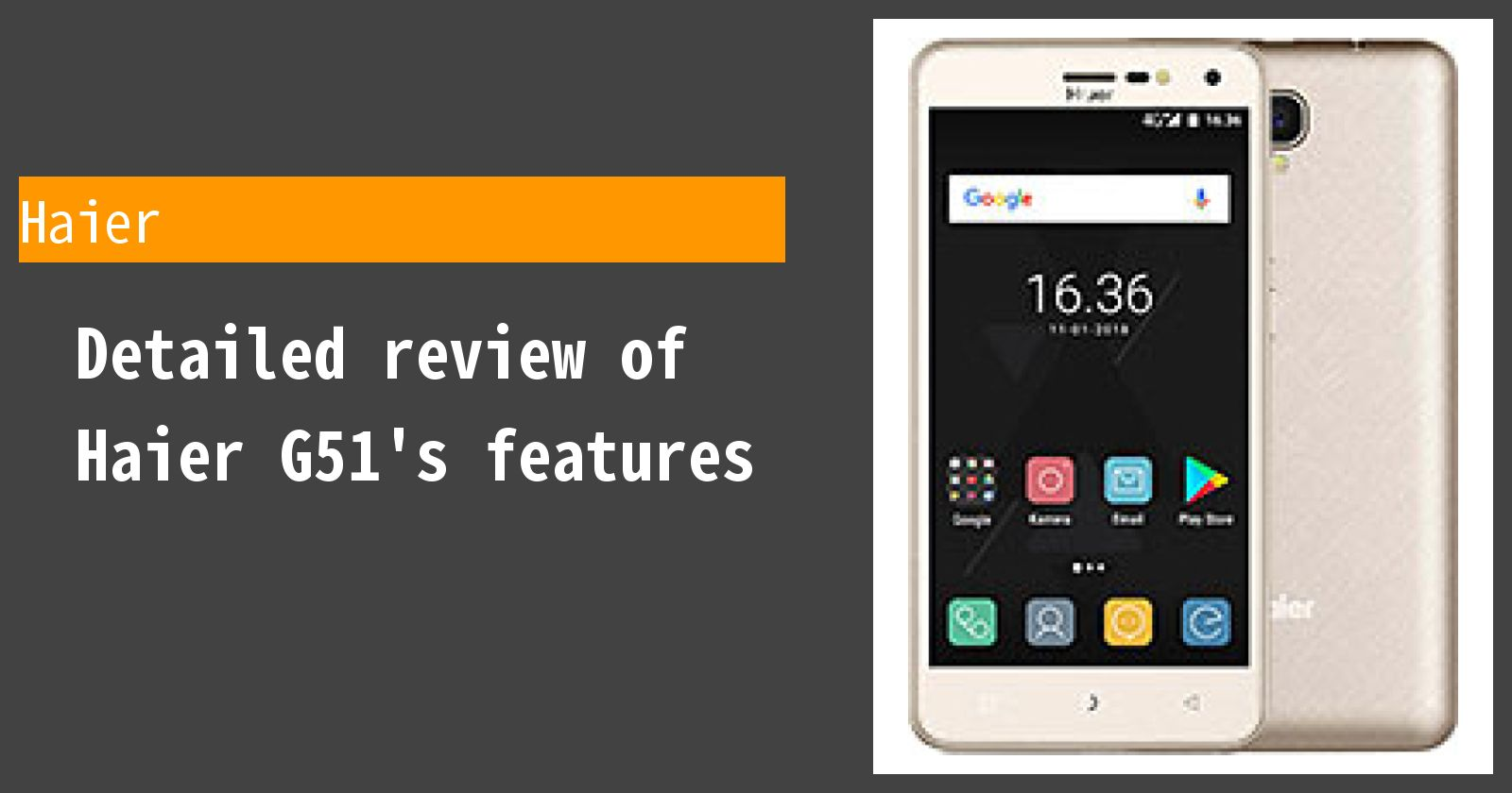 Detailed review of Haier G51's features